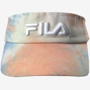 Fila Tie Dye Visor with Adjustable Velcro Strap